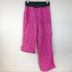 Zumba Hot Pink Cargo Pants\Capri Size L